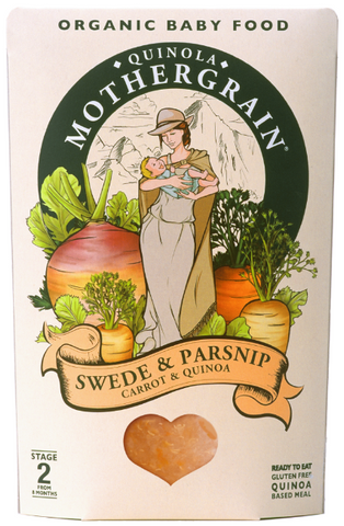 Organic Swede, Parsnip & Carrot Quinoa Baby Food 8M+