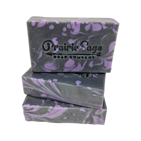 Lavender Scented Activated Charcoal Handmade Soap