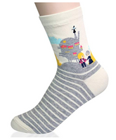 KONY Women's Funny Cartoon Japanese Animation Crew Socks Casual Cotton Gift