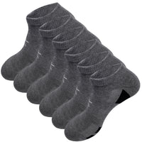 KONY Men's 6 Pairs Moisture Wicking Cotton Thick Cushioned Low Ankle Athletic Socks Size 9-12 All Season Gift