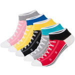 KONY Women's 5 Pack Lightweight Cotton (86%) Fun Novelty Low Cut Socks Cool Sneakers Ankle Socks Gift Idea Size 6-10