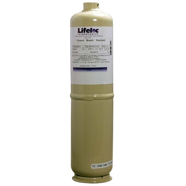 Calibration Gas Tank (Only) - 105 L (.100 Standard)