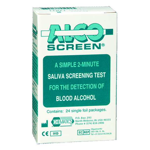 Saliva Blood Alcohol Test - AlcoScreen Non-DOT .02; .04; .08