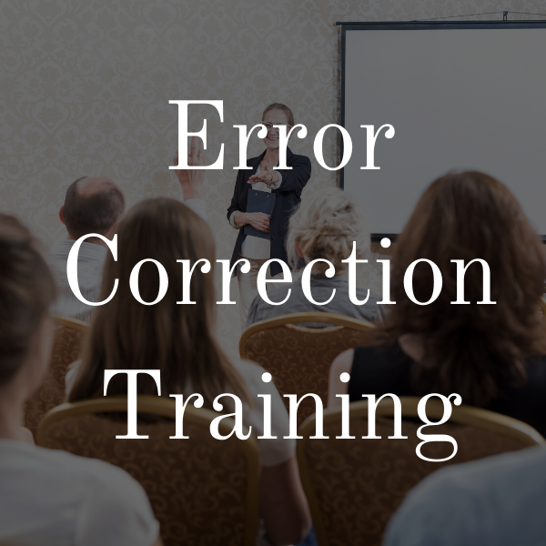 Error Correction Training