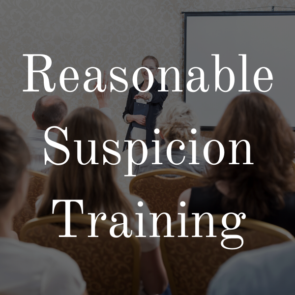 Supervisor Reasonable Suspicion Training