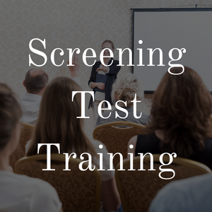 Screening Test Technician Training
