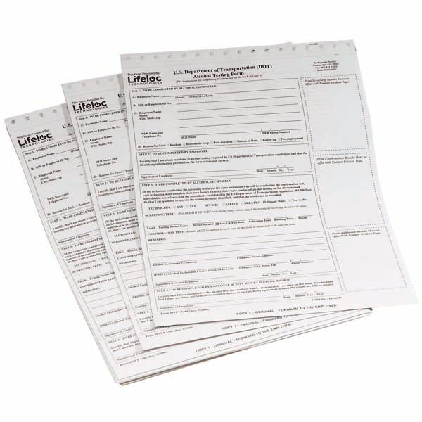 DOT Breath Alcohol Testing Forms (100/pk)
