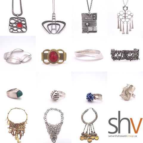 Scandinavian Canadian Studio Made jewellery Samantha Howard Vintage at Ottawa Antique & Vintage Market