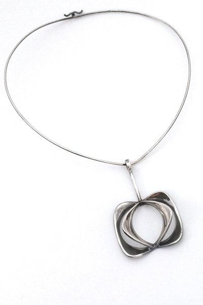 Alton Sweden vintage silver pendant and neck ring 1974 design Theresia Hvorslev