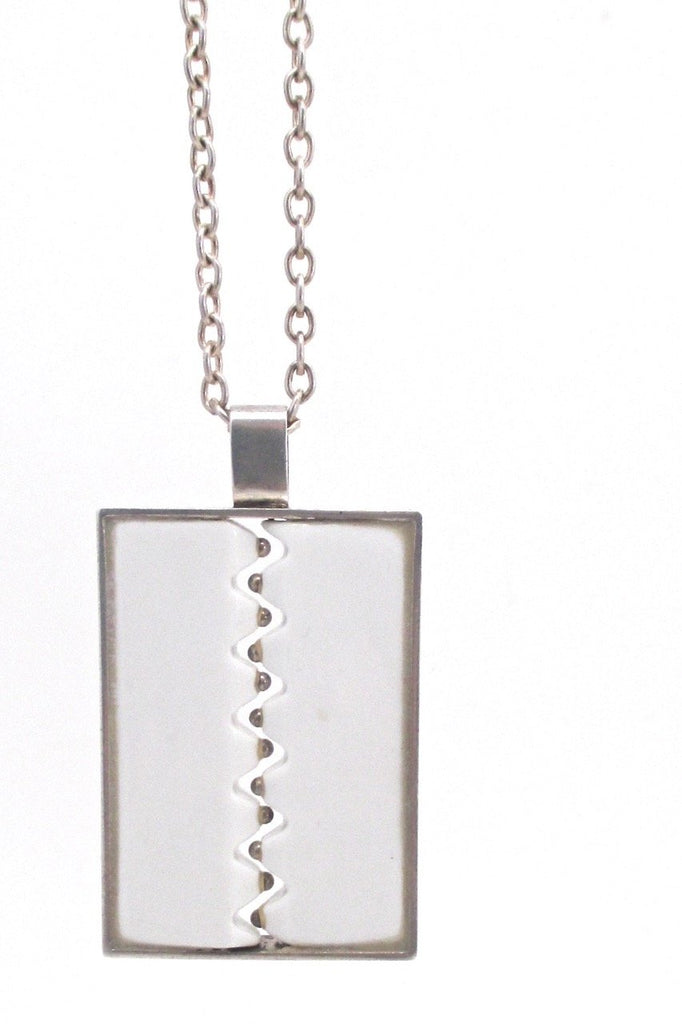 Anton Michelsen Royal Copenhagen Denmark vintage modernist pendant necklace Nordic jewellery