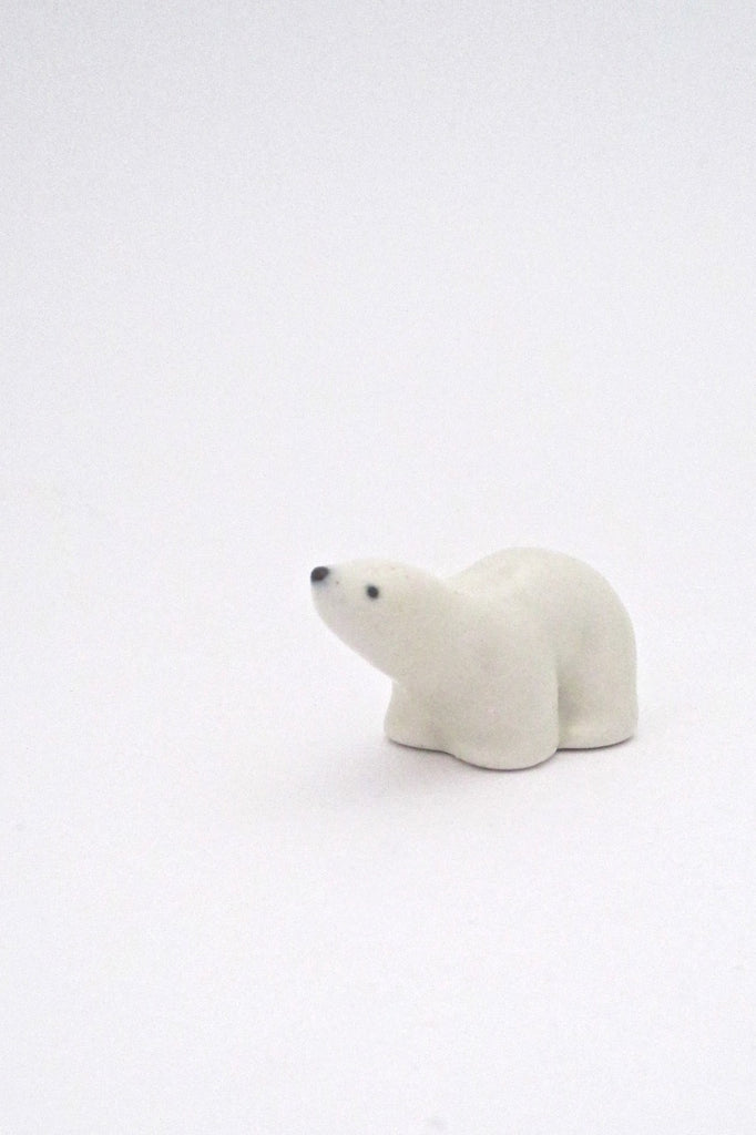 Arabia Finland miniature matte glazed ceramic polar bear by Richard Lindh