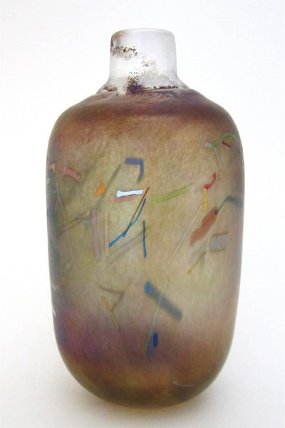 Bertil Vallien for Kosta Boda Sweden Artist Collection large Tornado vase signed