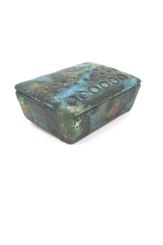 Bitossi Italy vintage ceramic Sea Garden lidded box by Alvino Bagni