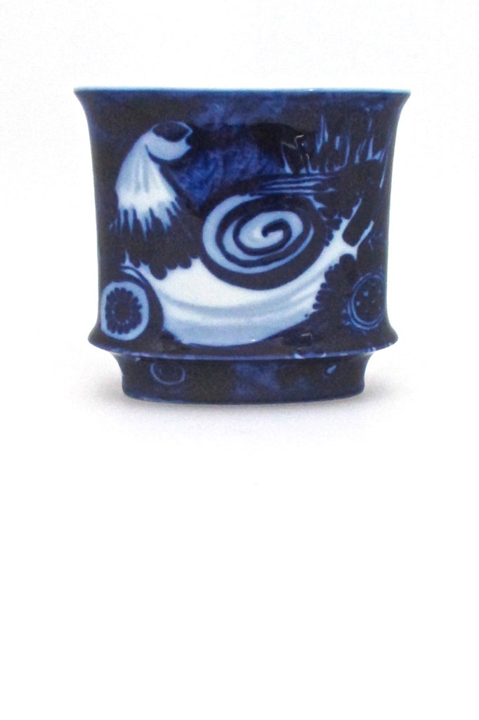 Rosenthal Germany vintage cobalt blue bird vase by Bjorn Wiinblad