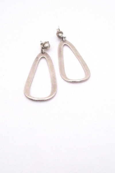 Darla Hesse Canada vintage silver drop earrings