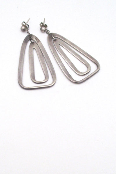 Darla Hesse Canada vintage silver double drop kinetic earrings