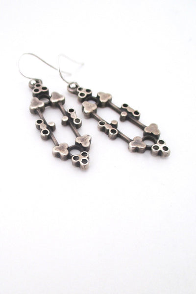 David-Andersen Norway vintage Scandinavian Modern silver drop earrings by Marianne Berg