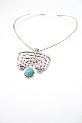 David-Andersen Norway vintage silver amazonite Troll series necklace pendant Bjorn Sigurd Ostern original neck ring