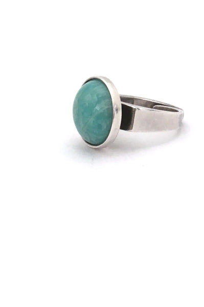 David-Andersen Norway vintage Scandinavian Modernist silver and amazonite ring