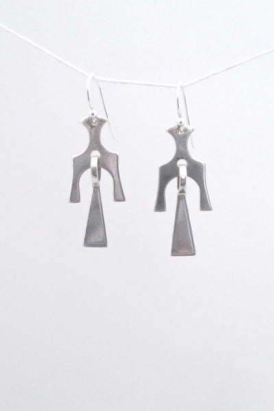 David Andersen Norway vintage Scandinavian Modern silver kinetic earrings