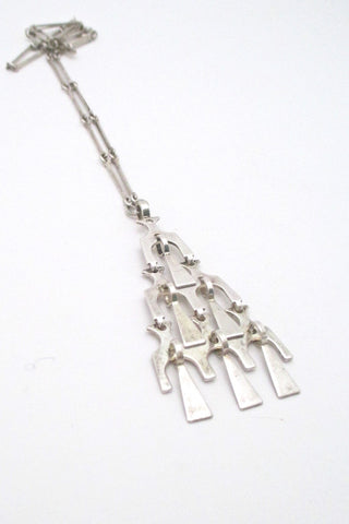 David Andersen Norway vintage Scandinavian Modern kinetic silver pendant necklace