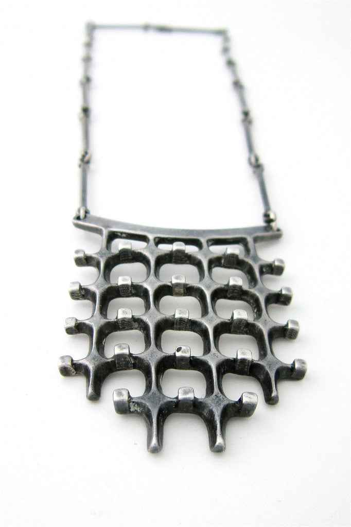 Uni David-Andersen, Norway silver necklace by Marianne Berg