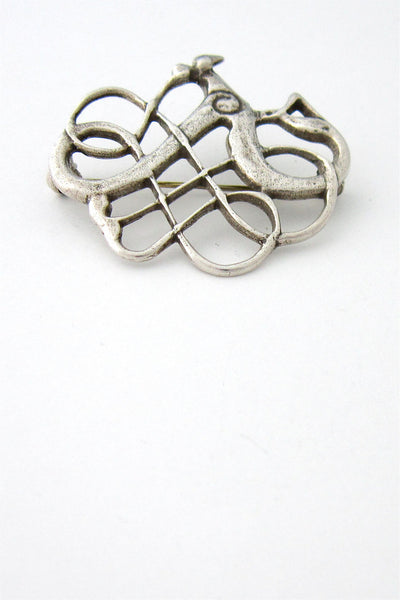 David-Andersen Norway silver Saga brooch