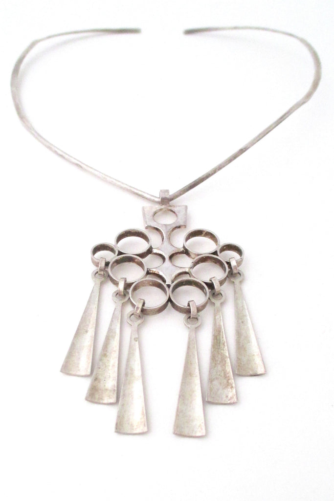 David-Andersen Norway vintage silver Scandinavian Modernist necklace