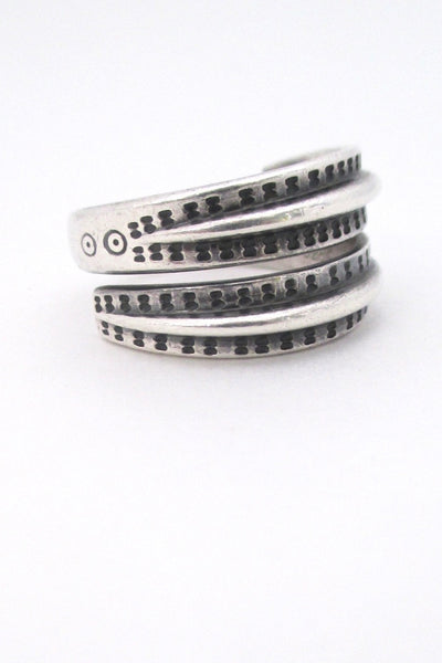 David Andersen Norway vintage Scandinavian silver Saga ring Nordic design
