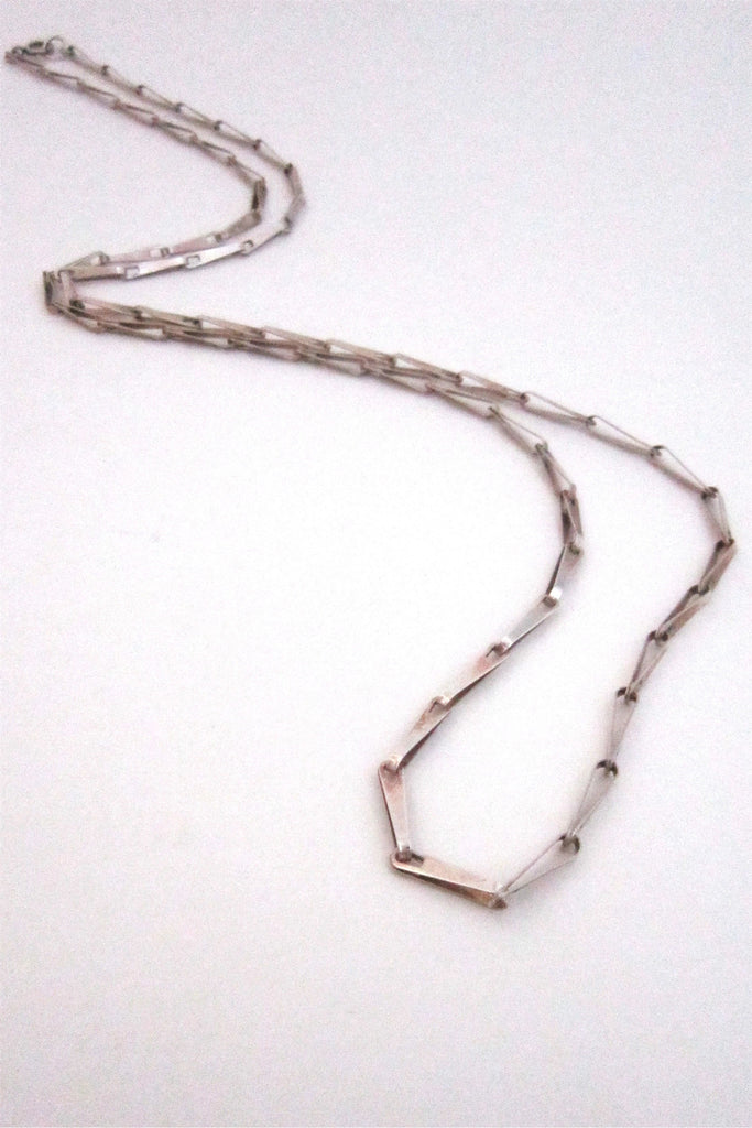David Andersen Norway sterling silver long link chain necklace