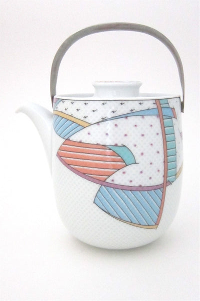 Tapio Wirkkala and Dorothy Hafner for Rosenthal vintage Century New Wave teapot coffee pot