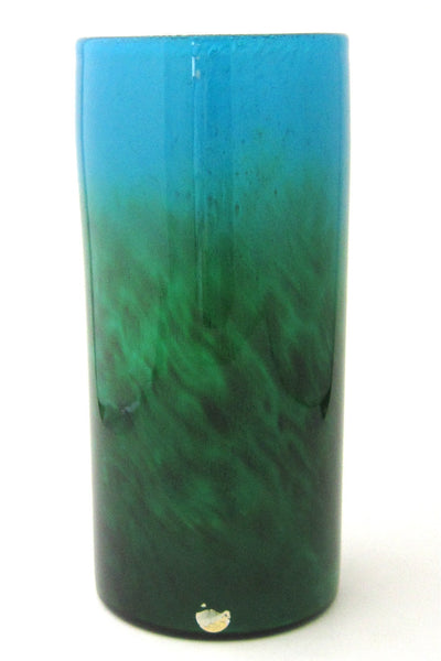 John Orwar Lake for Ekenas Sweden large blown glass vase