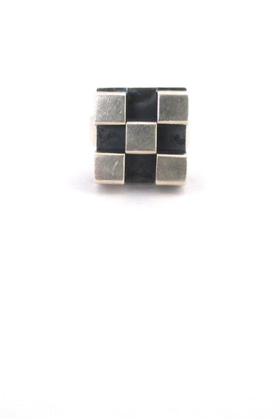Elis Kauppi 'open cubes' silver ring