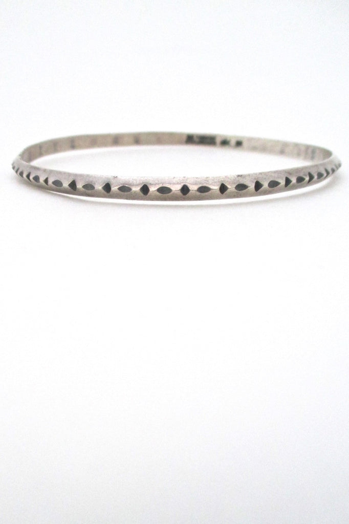 Erling Christoffersen for Plus Studios Norway Design vintage modernist silver bangle