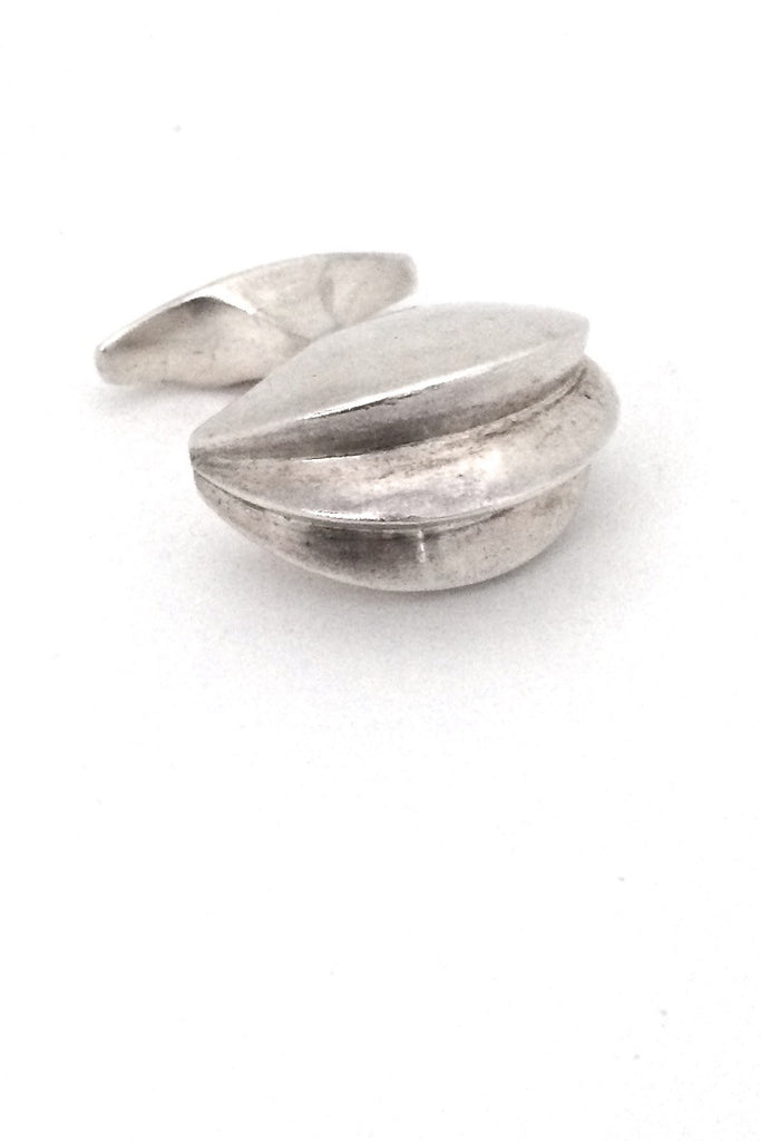 Georg Jensen Denmark rare vintage silver two finger ring by Ibe Dahlquist