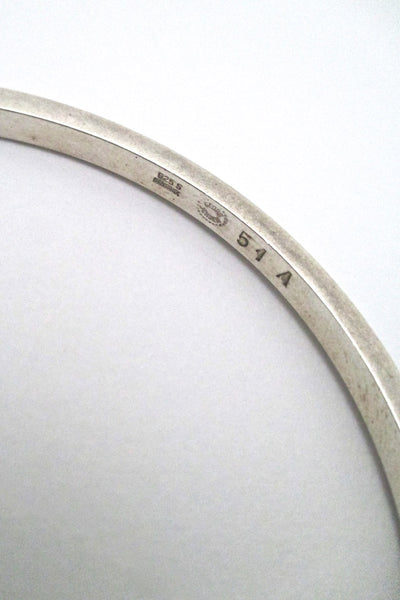 Georg Jensen simple silver bangle #51A