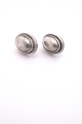 Georg Jensen Denmark vintage silver earrings 86B by Harald Nielsen