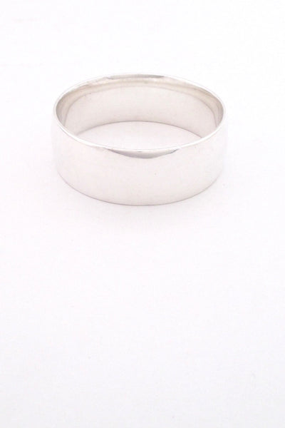 Georg Jensen Denmark vintage heavy silver wide bangle bracelet