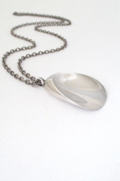 Georg Jensen Denmark vintage silver Scandinavian modernist shell necklace 328 by Nanna Ditzel