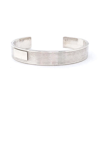 Gucci Italy vintage heavy sterling silver cuff bracelet for men