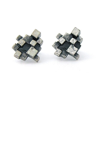 Guy Vidal Canada pewter cubes earrings
