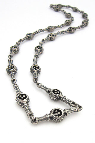 Guy Vidal Canada pewter long link necklace