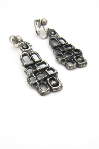 Guy Vidal pewter dangly earrings
