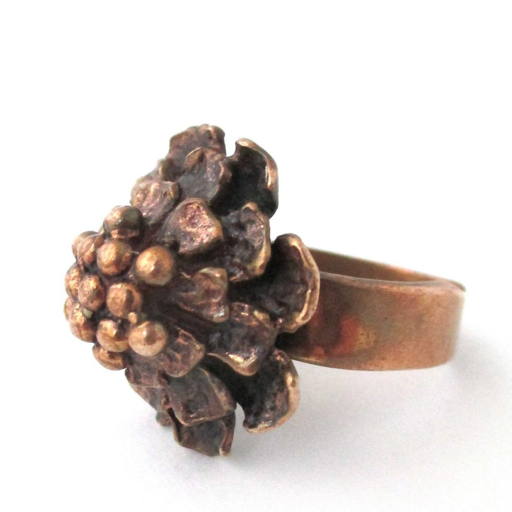 Hannu Ikonen Finland vintage bronze ring at Samantha Howard Vintage