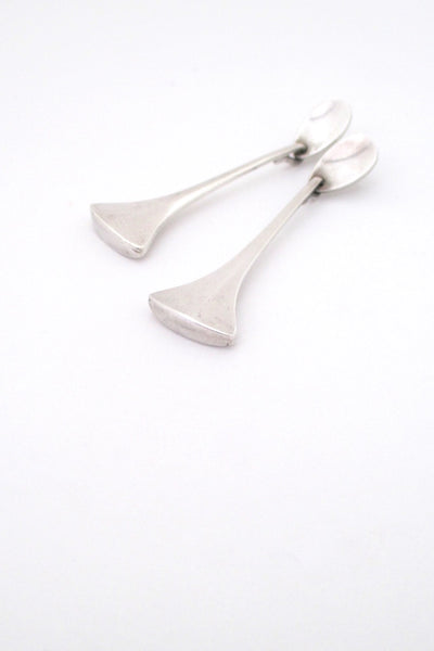 Hans Hansen long silver drop earrings