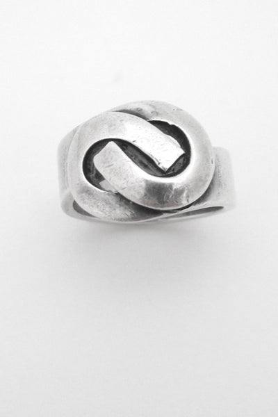 Henry Steig New York American Modernist vintage sterling silver ring