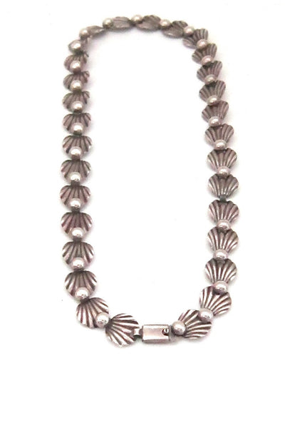 Hermann Siersbol Denmark vintage sterling silver leaf necklace