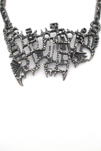 detail: Guy Vidal Canada large bib necklace at Samantha Howard Vintage