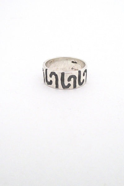 Robert Larin textured sterling band ring #2