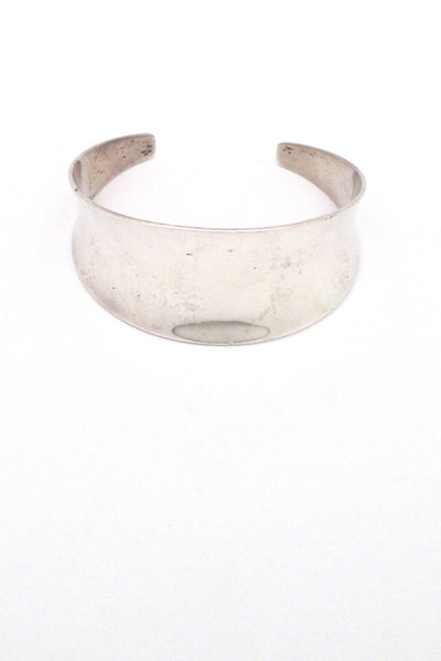 Just Andersen wide curved silver cuff bracelet
